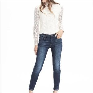 Banana Republic | LS Lace Mock Neck